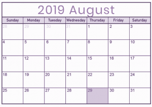 MBSR August 2019